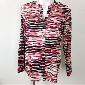 Calvin Klein Long Sleeve Multicolored Blouse
